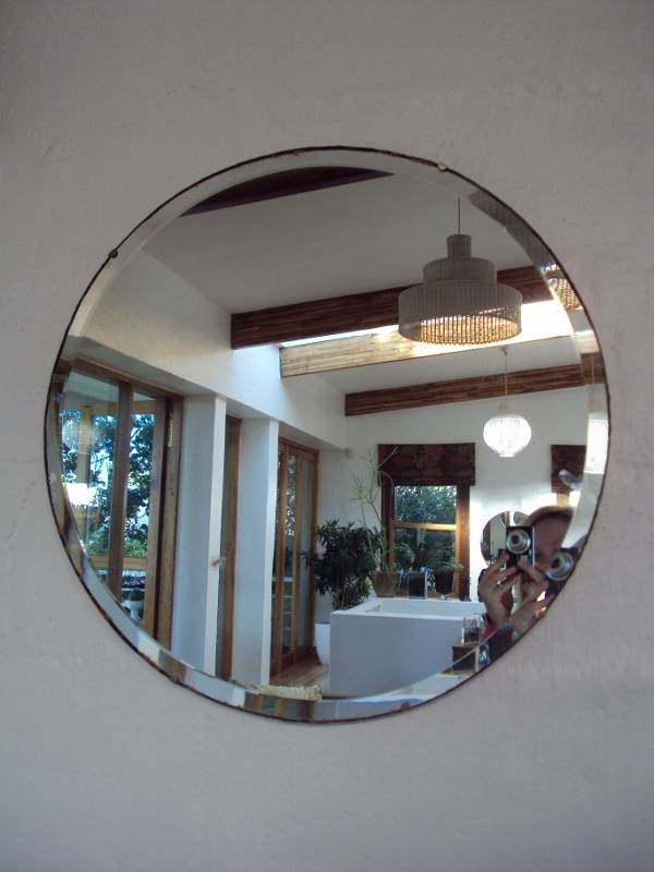 Round Beveled Mirror – Sold | Mint The Shop – Archives With Regard To Round Bevelled Mirrors (#15 of 20)