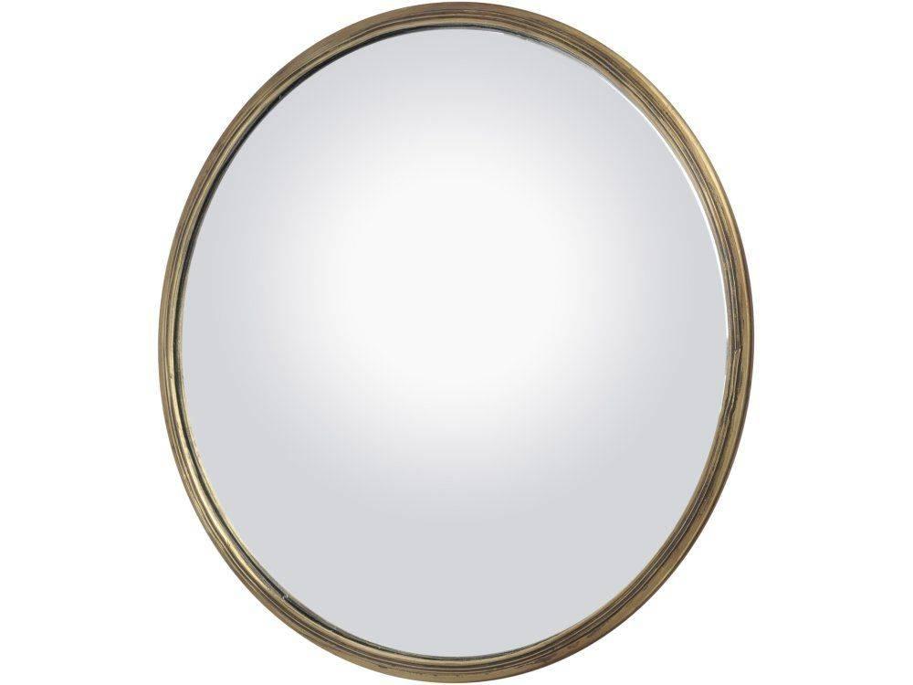 Round Brass Domed Mirror | Antique Brass Convex Mirror For Large Round Convex Mirrors (#23 of 30)