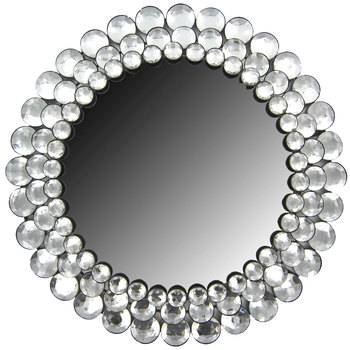 Round Crystal Gemstone Accented Mirror | Hobby Lobby | 365585 Inside Wall Mirrors With Crystals (#17 of 20)