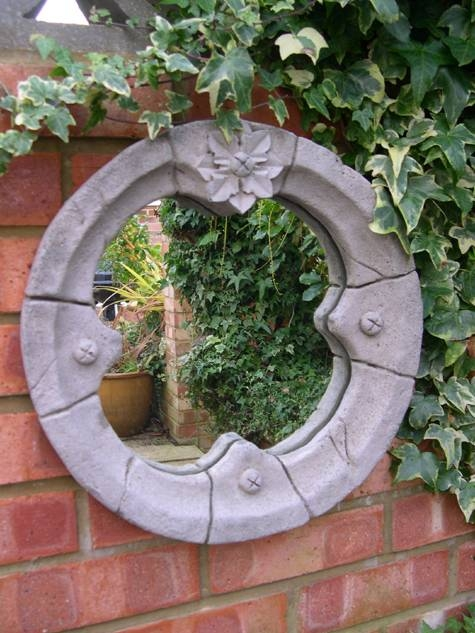 Round Garden Mirror – Berkshire Stonewareberkshire Stoneware Inside Gothic Garden Mirrors (#28 of 30)