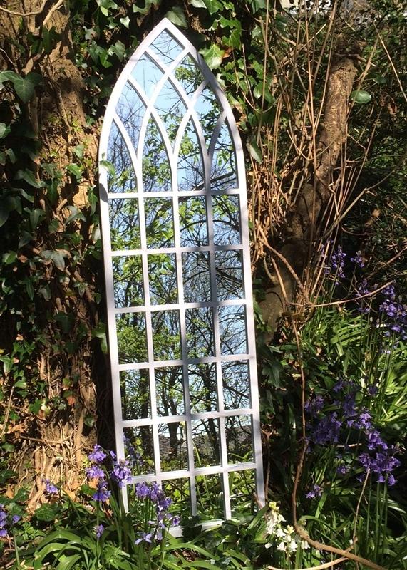 Round Garden Mirror With Metal Filigree Surround Garden Mirrors Throughout Metal Garden Mirrors (#25 of 30)