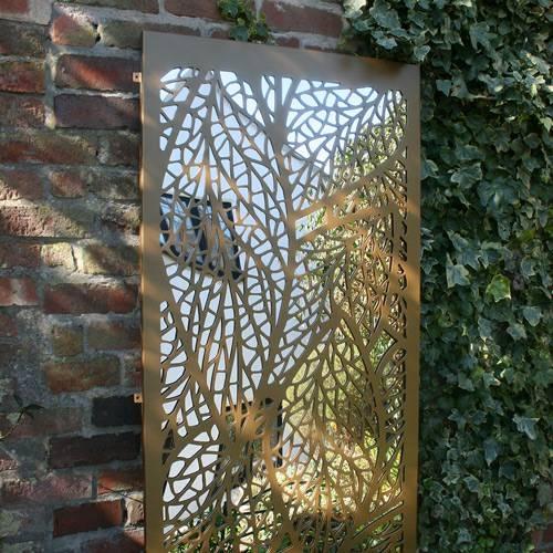 Round Garden Mirror With Metal Filigree Surround Garden Mirrors With Metal Garden Mirrors (#27 of 30)
