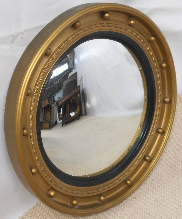 Round Gilt Convex Hanging Wall Mirror – Sold Regarding Round Convex Wall Mirrors (#26 of 30)