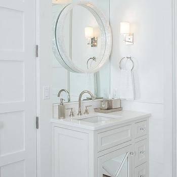 Round Gray Convex Mirror Design Ideas With White Convex Mirrors (#23 of 30)