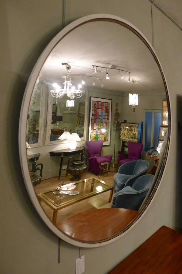 Round Industrial Convex Mirror Mid 20Th C In From Circus Antiques Regarding Convex Decorative Mirrors (View 12 of 30)