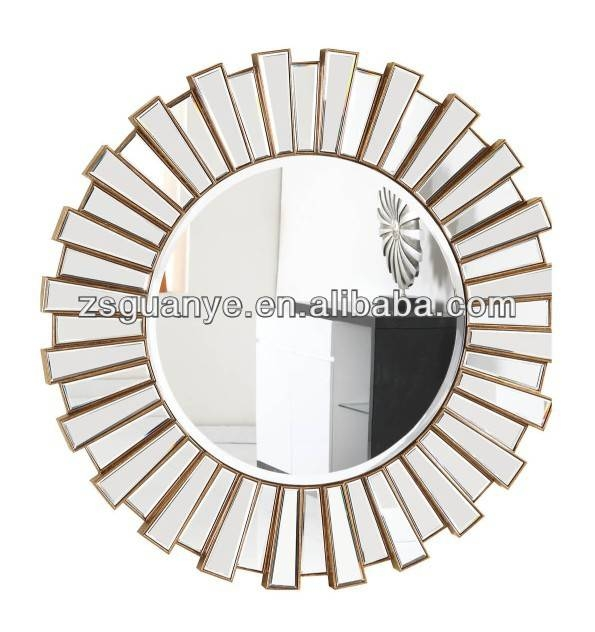 Round Mirror Frame Bevelled Mirror Decorative Wall Mirror Sets With Regard To Round Bevelled Mirrors (#19 of 20)