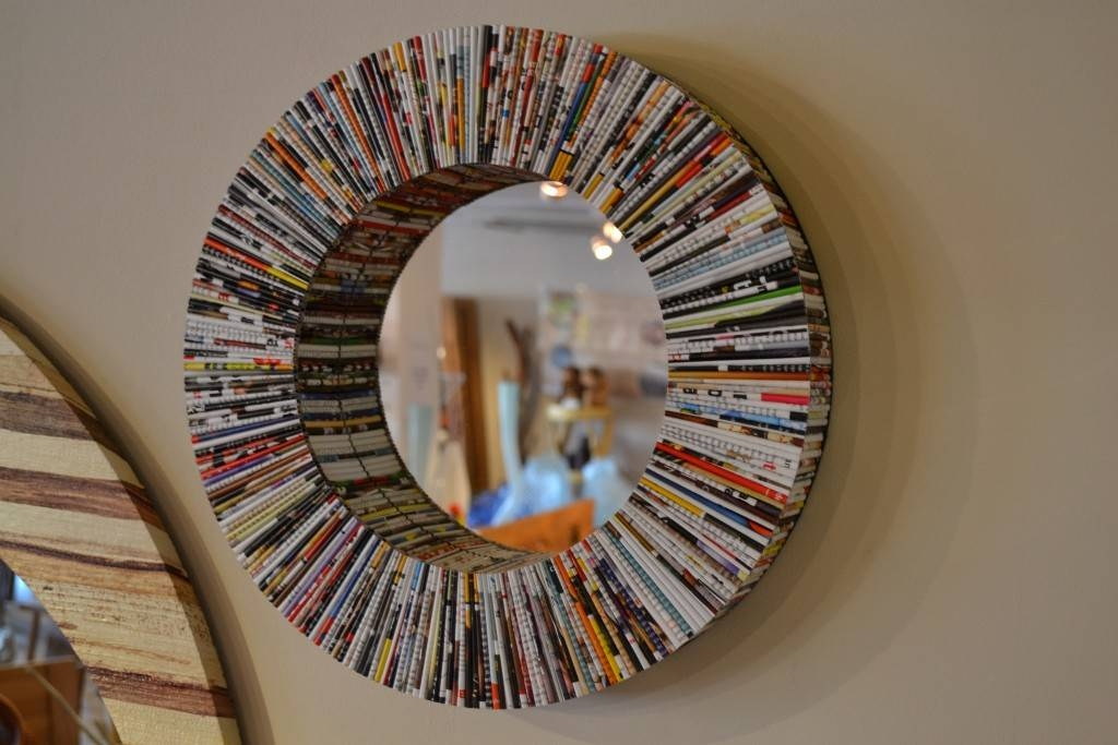 Round Mirror – Recycled Magazine Throughout Unusual Round Mirrors (View 13 of 20)