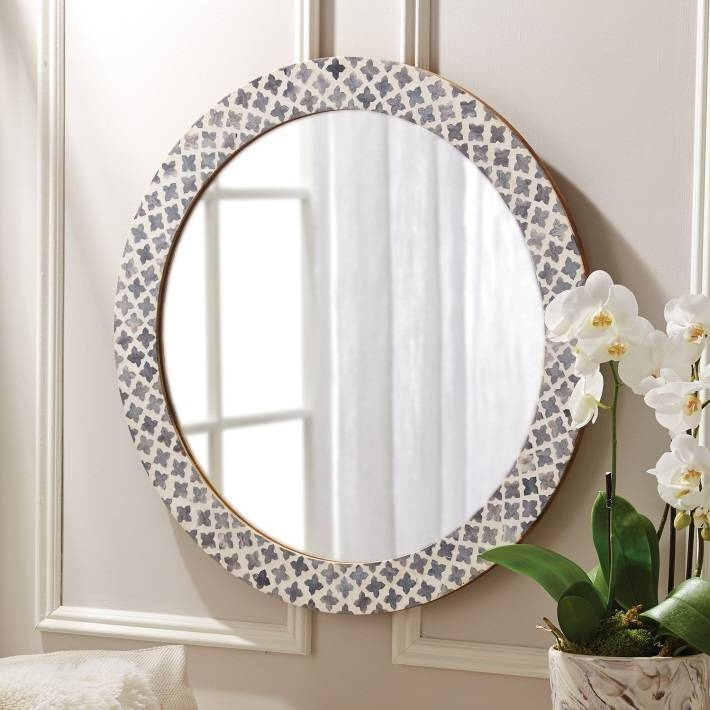 Round Mirror With Bone Inlay | British Home Emporium For Round Mirrors (View 11 of 30)