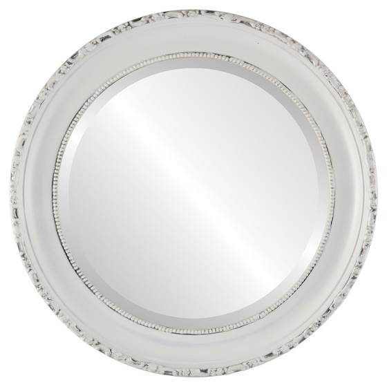 Round Mirrors – White Round Mirror – Page 1 – The Oval And Round Intended For White Round Mirrors (#23 of 30)