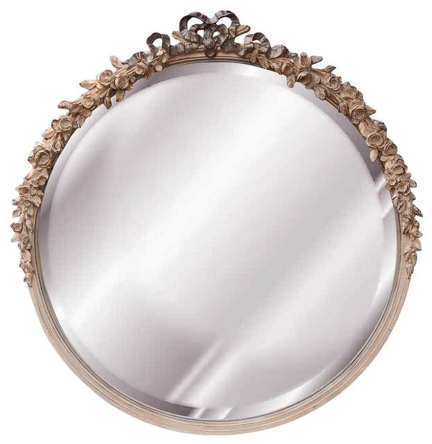 Round Rose Mirror, Cream – Victorian – Wall Mirrors  Cpi Regarding Cream Mirrors (#28 of 30)