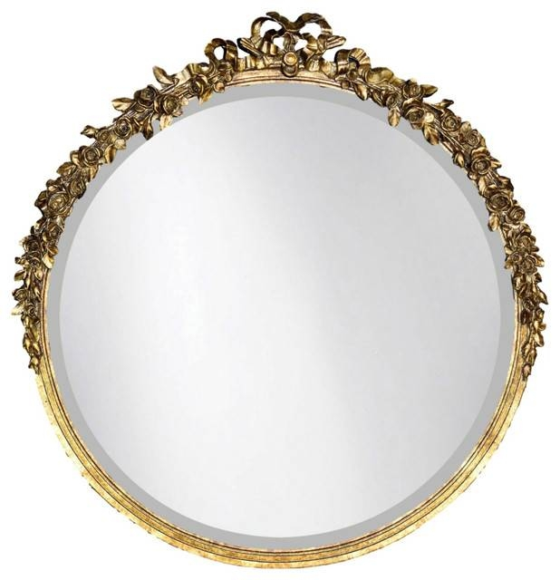 Round Rose Mirror, Et Gold – Traditional – Wall Mirrors Cpi Within Gold Round Mirrors (View 14 of 20)