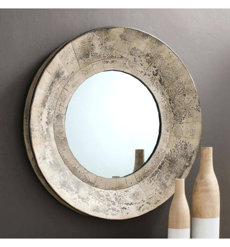 Round Rustic Mirror – Shopwiz With Large Round Metal Mirrors (View 26 of 30)