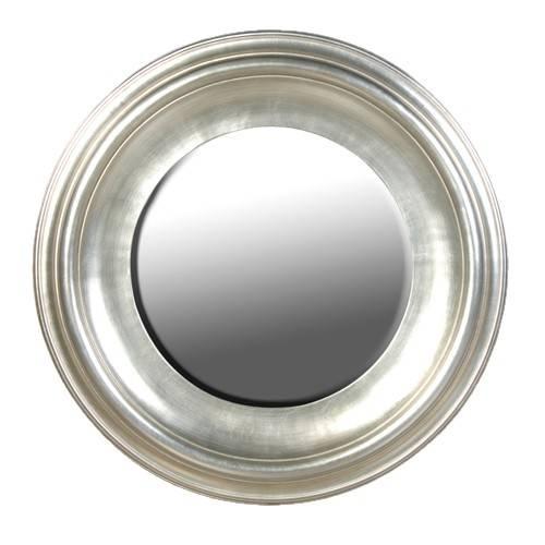 Round Silver Leaf Mirror Inside Round Silver Mirrors (#22 of 30)