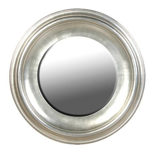 Round Silver Leaf Mirror Pertaining To Large Round Silver Mirrors (#23 of 30)