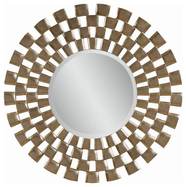 "Round Wall Mirror, 48"" – Contemporary – Wall Mirrors Carolina Inside Contemporary Round Mirrors (View 4 of 20)"