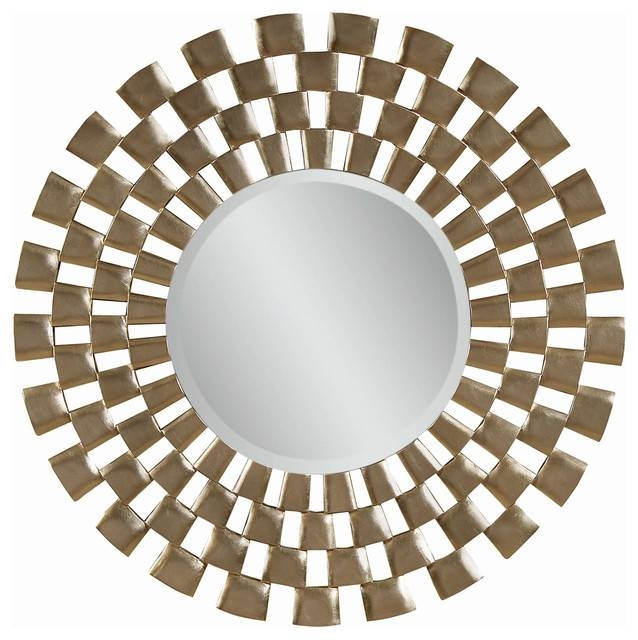 "Round Wall Mirror, 48"" – Contemporary – Wall Mirrors  Carolina Intended For Designer Round Mirrors (#19 of 20)"