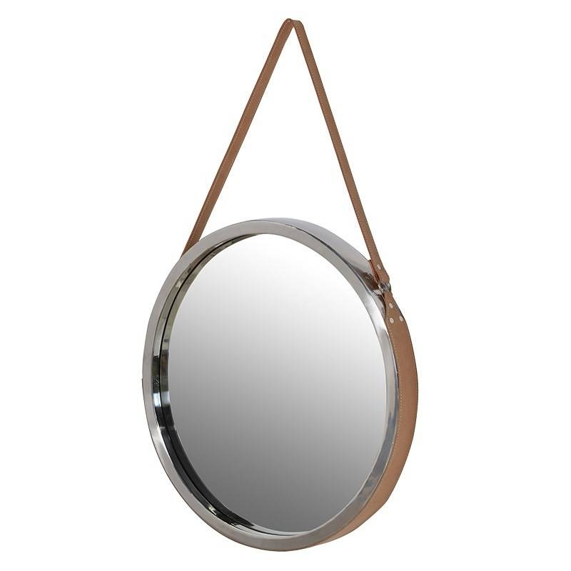 Round Wall Mirrors For Living Room – Choose The Elegant Decoration With Regard To Round Leather Mirrors (#27 of 30)
