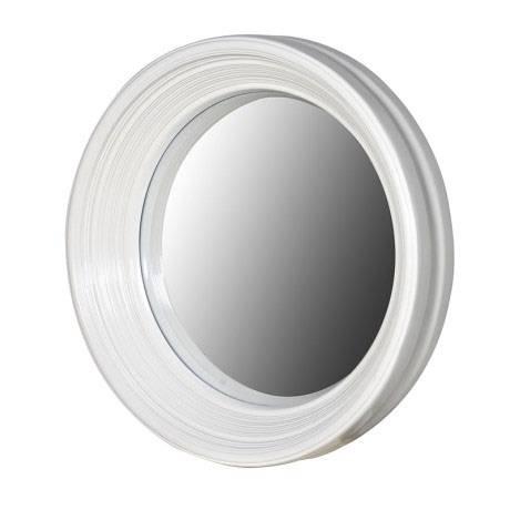Round White Framed Convex Porthole Mirror 65Cm Round White Frame Throughout Round White Mirrors (#21 of 30)