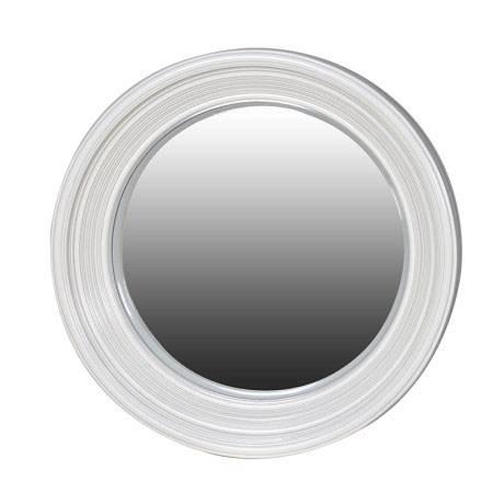 Round White Framed Convex Porthole Mirror 65Cm Round White Frame Throughout Round White Mirrors (#20 of 30)