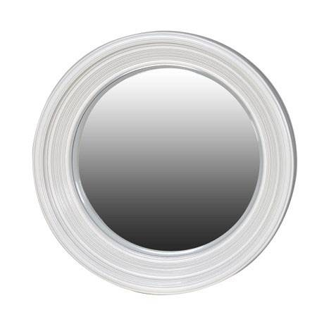 Round White Framed Convex Porthole Mirror 65Cm Round White Frame Within Convex Porthole Mirrors (#12 of 15)