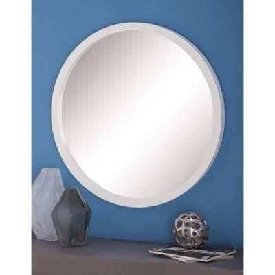 Round – White – Mirrors – Wall Decor – The Home Depot Pertaining To Round White Mirrors (#16 of 30)