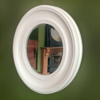 Round White Wall Mirror – Ayers & Graces Online Antique Style With Regard To Round White Mirrors (#23 of 30)
