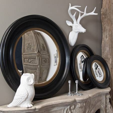 Round Wooden Convex Mirror – House Junkie In Black Convex Mirrors (#16 of 20)
