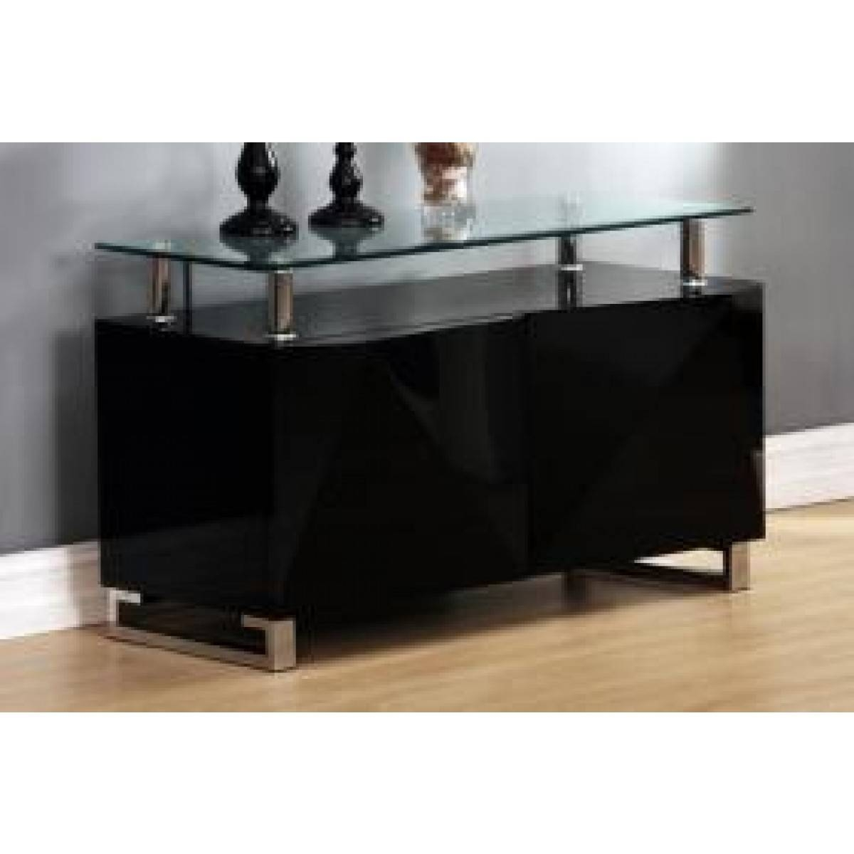 Rowley Black High Gloss Sideboard 2 Doors – Sideboards And With Regard To Black High Gloss Sideboard (#17 of 20)