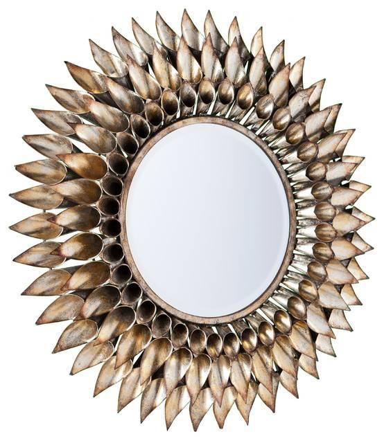 Roxbury Round Decorative Wall Mirror – Contemporary – Wall Mirrors Intended For Contemporary Wall Mirrors (#18 of 20)