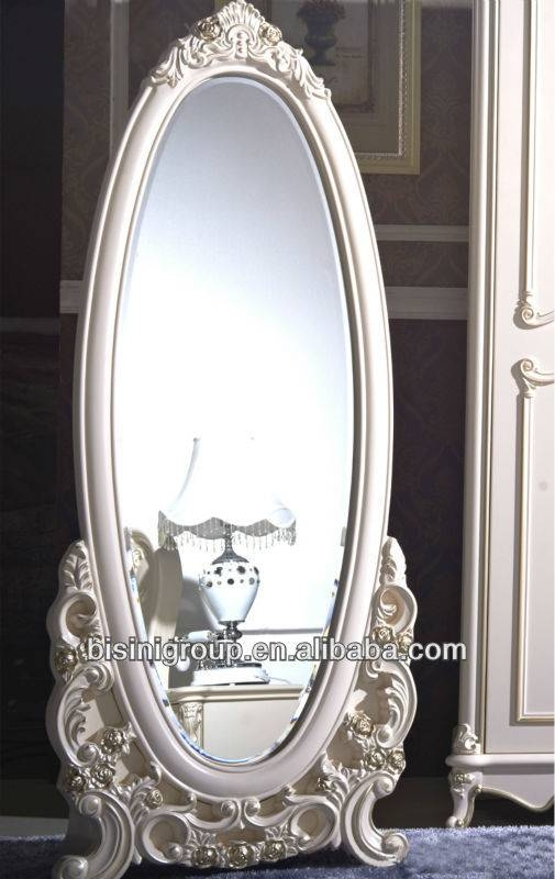 Royal Vintage White Dressing Mirror Full Length In French Style Pertaining To Full Length Antique Dressing Mirrors (#24 of 30)