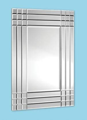Rubic 9 Square Frameless Wall Mirror – £ (#25 of 30)