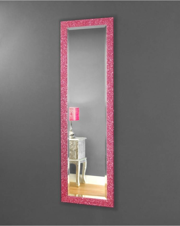 Rufford Large Pink Glitter Mirror For Glitter Wall Mirrors (#24 of 30)