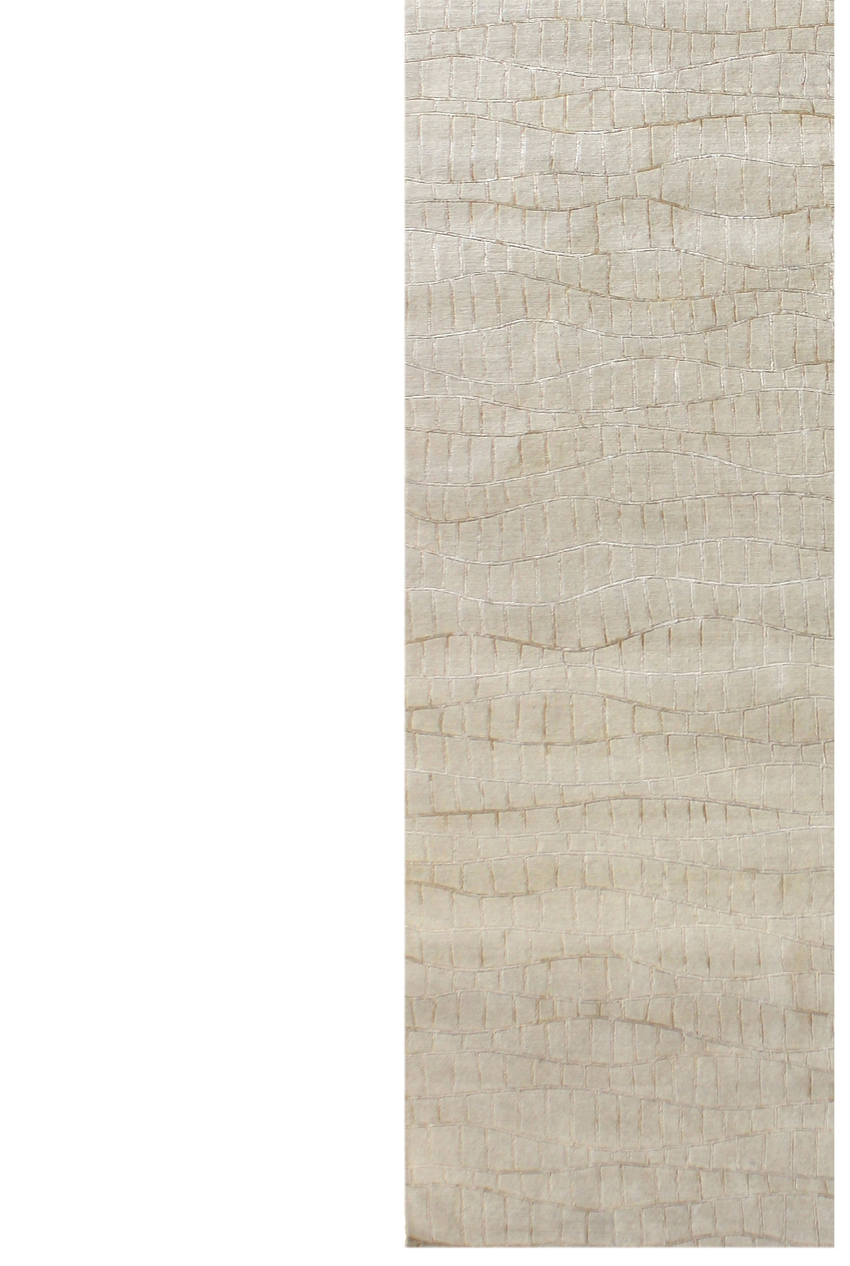 Runner rug calvin klein lunar runner rug shell 69x226cm for Contemporary runner rugs for hallway