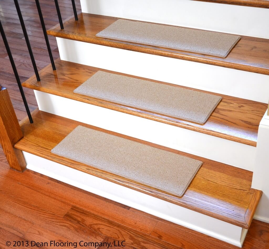 Rug Nice Carpet Stair Treads Lowes For Home Flooring Ideas Within Non Slip Stair Treads Carpets (View 3 of 20)