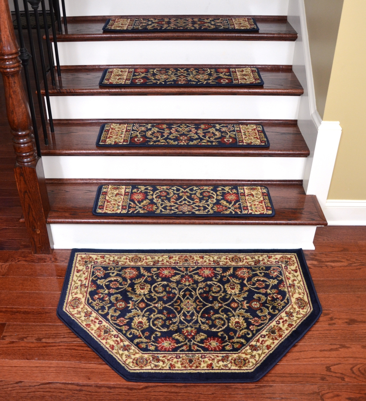 Rug Non Skid Stair Treads Rubber Mats With Holes Carpet Stair Throughout Non Skid Stair Tread Rugs (#17 of 20)