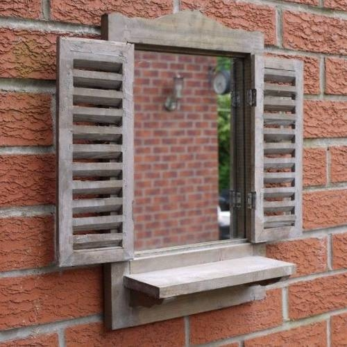 Rustic Brown Mirror With Shutters With Wall Mirrors With Shutters (#16 of 20)