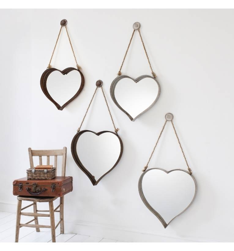 Rustic Metal 18 X 16 Heart Mirrors (set Of 2) Rustic Metal 18 X 16 In Heart Shaped Mirrors For Walls (View 14 of 30)