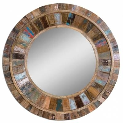 Rustic Mirrors | Reclaimed Wood, Distressed Wood, Iron In Blue Distressed Mirrors (#28 of 30)