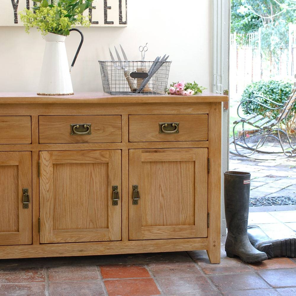 Rustic Oak Large Sideboard Including Free Delivery ( (#13 of 20)