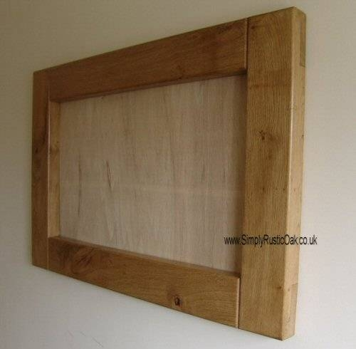 Rustic Oak Mirror Picture Frame | Simply Rustic Oak Furniture Intended For Rustic Oak Mirrors (#17 of 20)