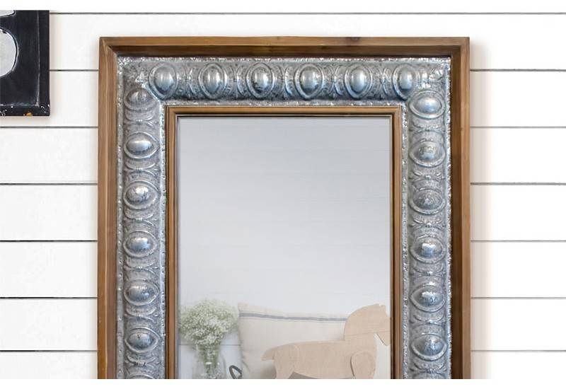 Rustic Wood Framed Mirror, Metal Framed Mirror, Farmhouse Decor Intended For Distressed Framed Mirrors (#25 of 30)