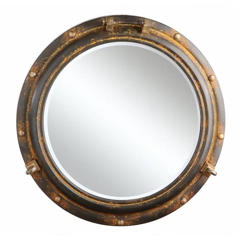 Rusty Porthole Wall Mirror | A Cottage In The City With Porthole Wall Mirrors (View 4 of 20)