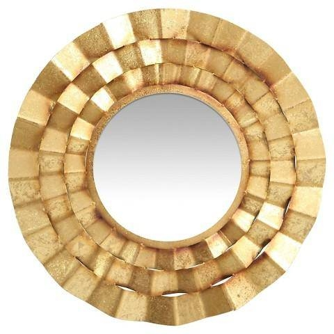 Safavieh Decorative Gold Wall Mirror Inside Gold Wall Mirrors (View 10 of 30)