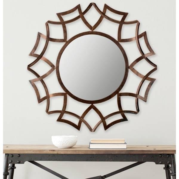 Safavieh Inca Copper Bronze 35 Inch Sunburst Mirror – Free For Bronze Starburst Mirrors (View 10 of 20)