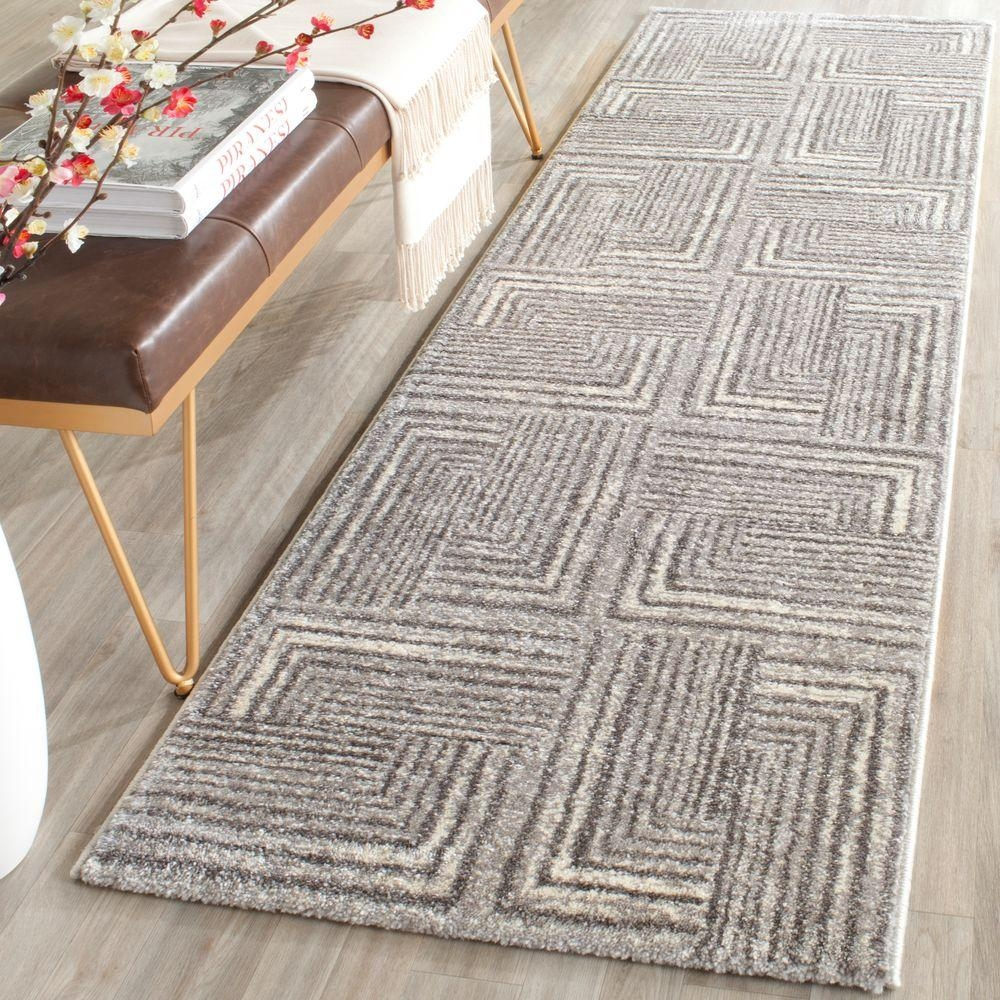 Safavieh Porcello Light Greydark Grey 2 Ft 4 In X 6 Ft 7 In Inside Rug Runners Grey (View 19 of 20)