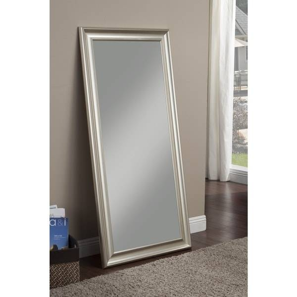 Sandberg Furniture Champagne Silver Finish Full Length Leaner With Champagne Silver Mirrors (#13 of 15)