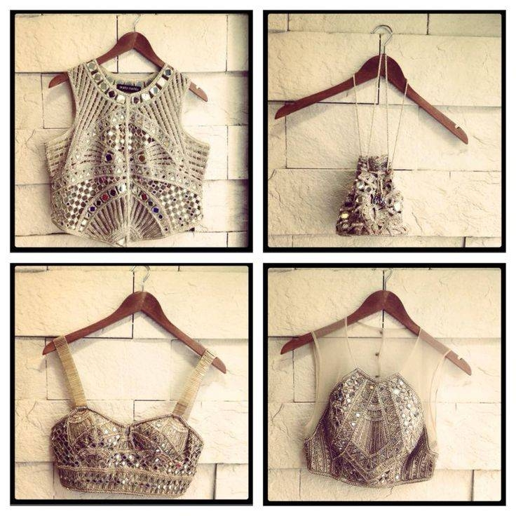 Saree Blouse Designs: Mirror Work Saree Blouse Designs With Regard To Embellished Mirrors (View 27 of 30)