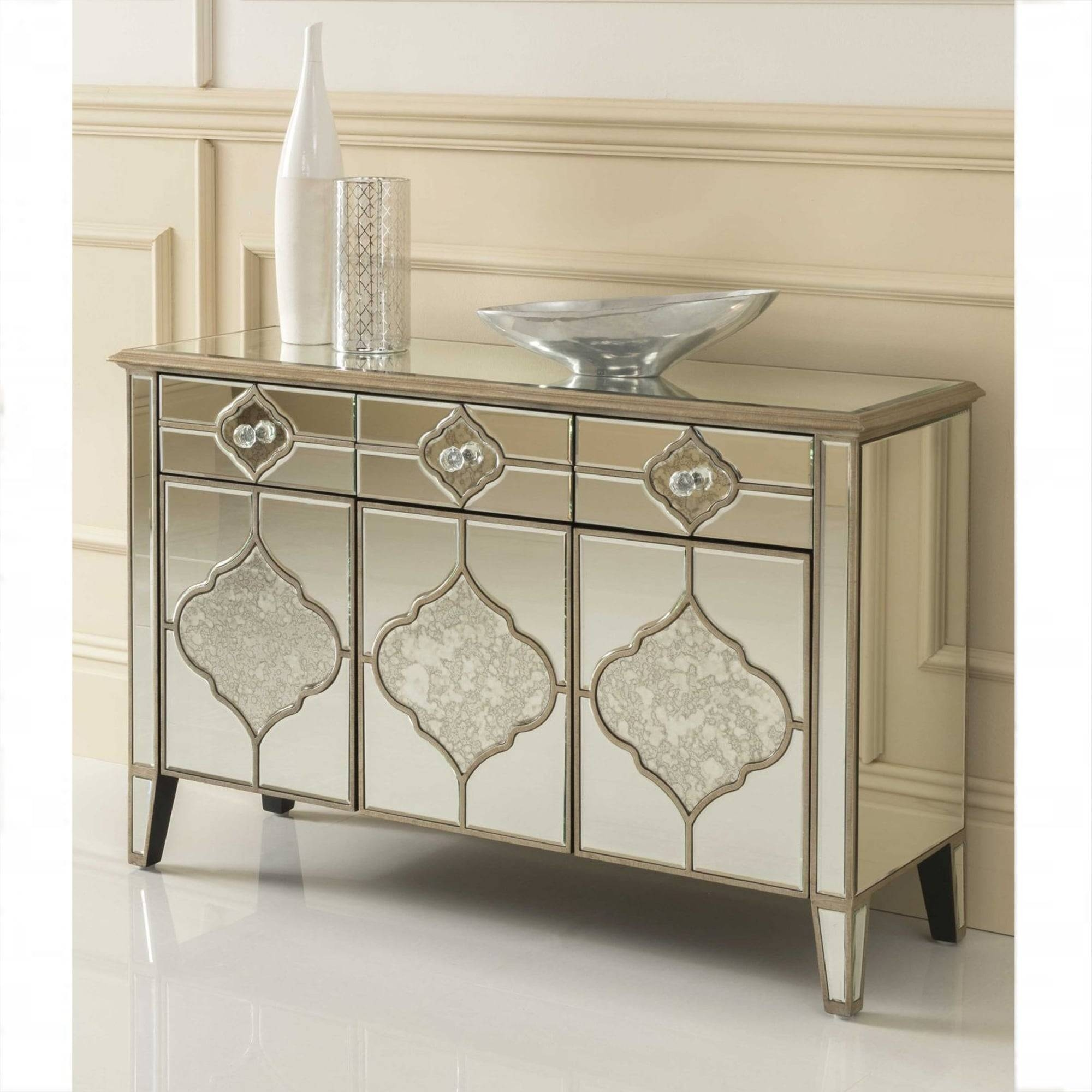 Sassari Mirrored Sideboard | Venetian Glass Furniture For Glass Sideboard (#16 of 20)