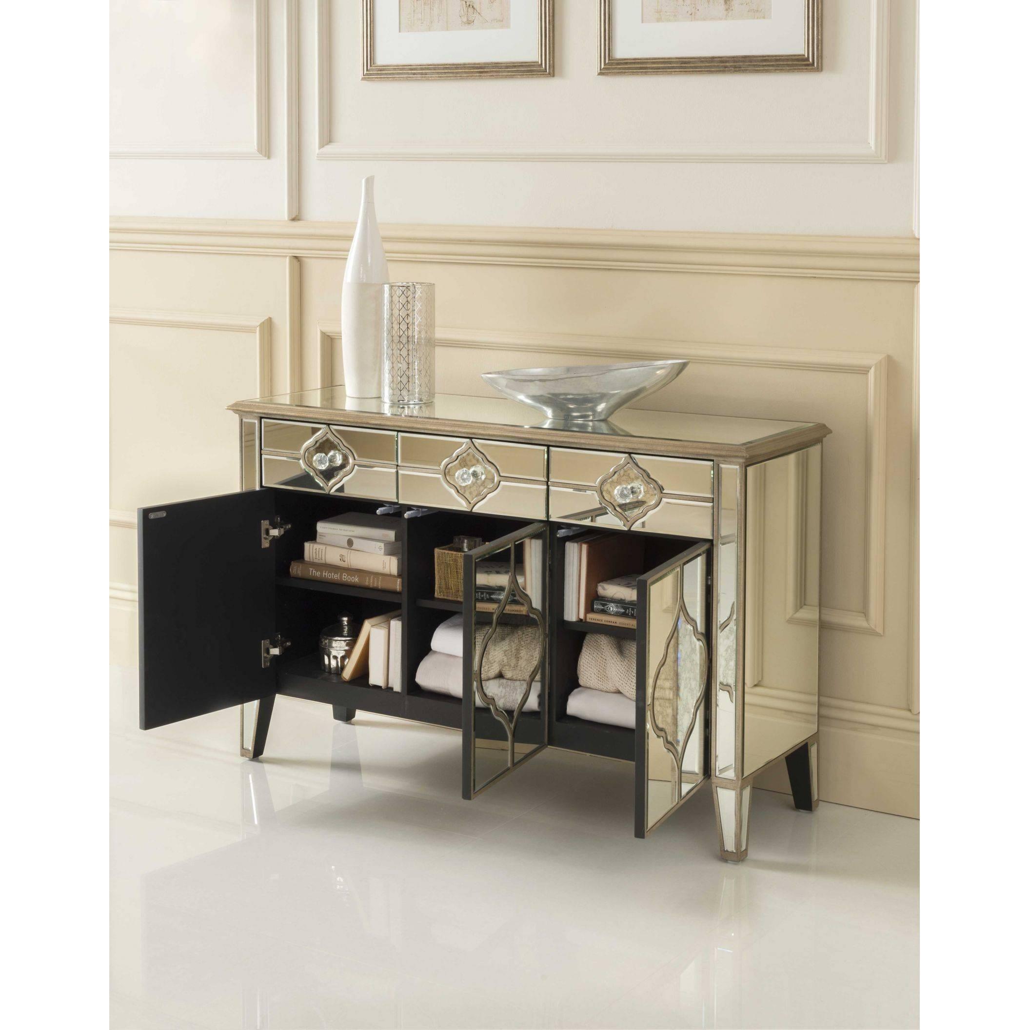 Sassari Mirrored Sideboard   Venetian Glass Furniture In Mirrored Sideboard Furniture (View 9 of 20)
