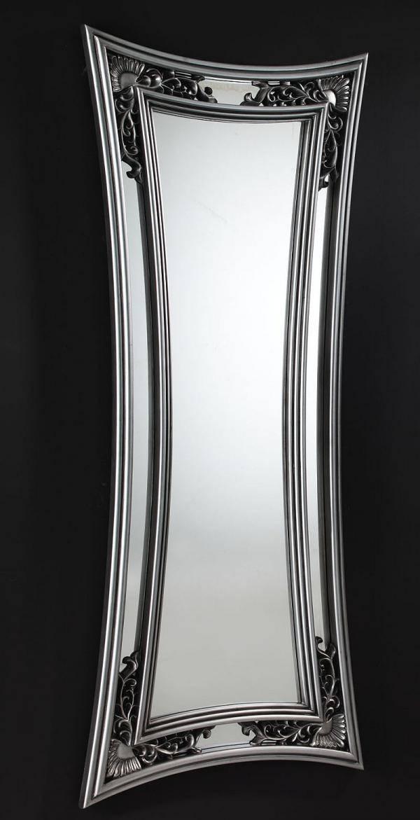 Saturno Contemporary Round Mirror In Silver Or Black Regarding Modern Silver Mirrors (View 14 of 20)